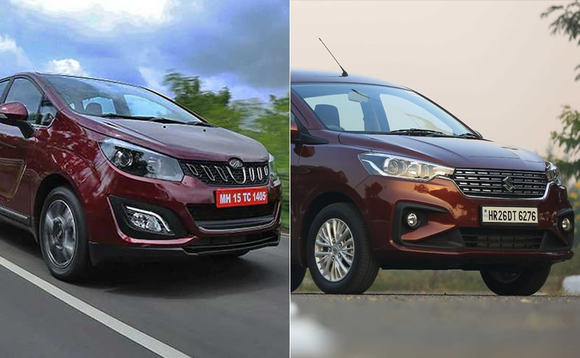 The 2018 Maruti Ertiga is smaller than the Mahindra Marazzo but is also over Rs. 1 lakh cheaper