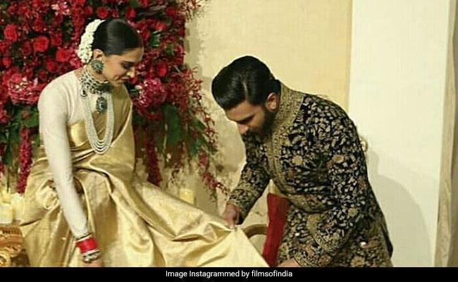 दीपिका पादुकोण के 'पल्लू' को संवारकर रणवीर सिंह ने दी 'फ्लाइंग Kiss', बोले- शादी हो चुकी है अब कौन..; Video