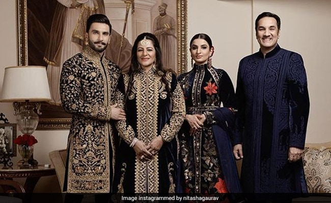 Ranveer Singh And The Bhavnanis A Vision In Matching Rohit Bal At