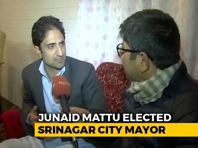 Video : Junaid Mattu Becomes Srinagar Mayor With BJP Support