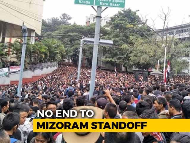 Video : Mizoram Stir Called Off For Now, Chief Electoral Officer Called To Delhi
