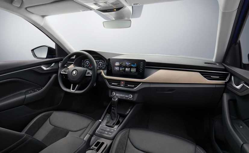 The Skoda Scala's interior is made of premium material, and the cabin also feature some smart tech