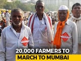 Video : 20,000 Farmers March From Thane To Mumbai Demanding Drought Compensation