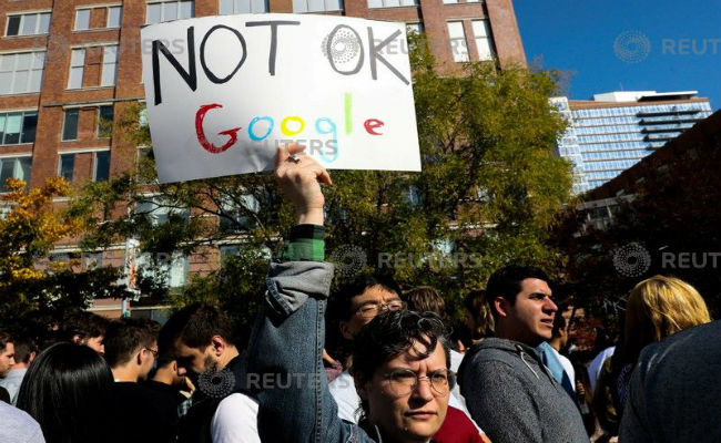 Google Employees Around The World Stage Protest Over Workplace Harassment