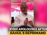 "Video : On Rahul Gandhi's Prompt, CP Joshi Regrets Comments On ""Brahmins"""