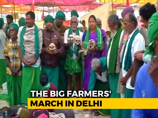 Video : Thousands Of Farmers Walk To Delhi, Mission Parliament Today
