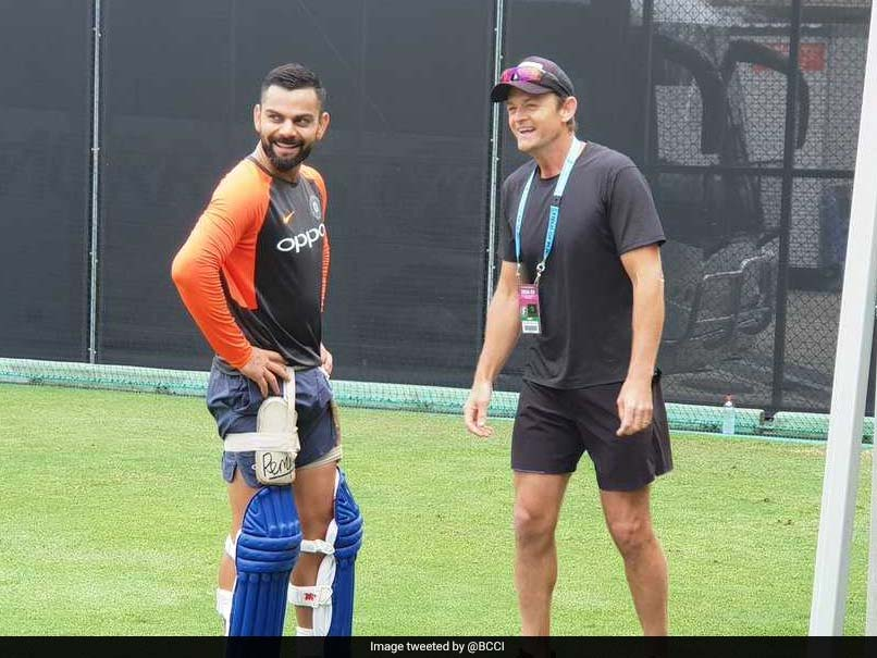 Virat Kohli Shares A Light Moment With Adam Gilchrist During Practice