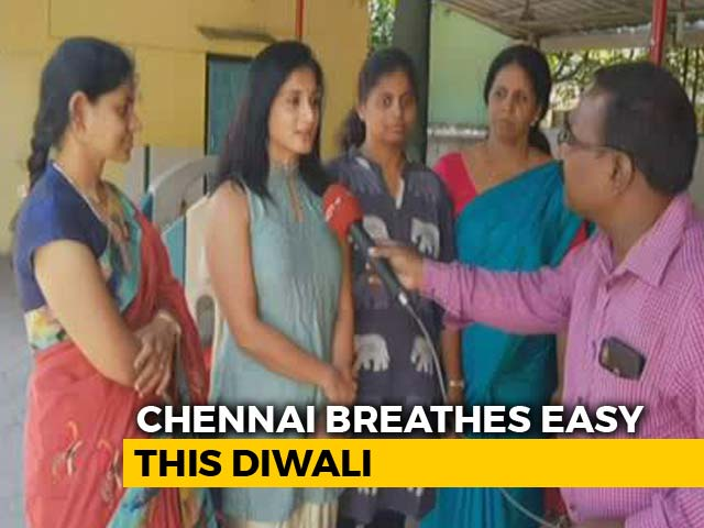 Video : In Chennai, Air Pollution 6 Times Less Than Last Diwali