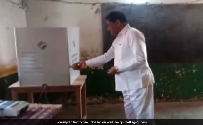 Chhattisgarh Minister Performs Puja Inside Polling Booth, Served Notice