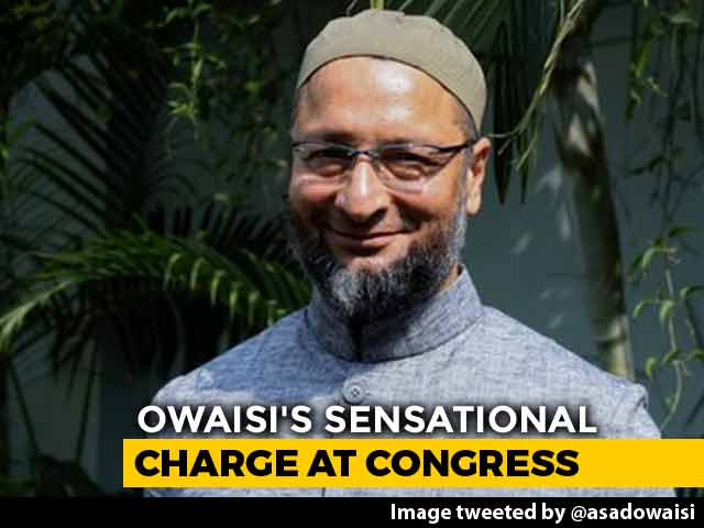 "Video : ""Congress Offered Rs. 25 Lakh To Cancel Telangana Rally"": Asaduddin Owaisi"