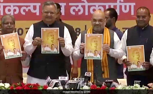 Amit Shah Releases BJP Manifesto For Chhattisgarh Polls: Live Updates
