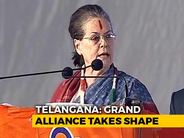 Video : Rahul, Sonia Gandhi On The Campaign Trail In Telangana