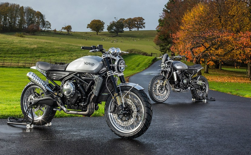 The Norton Atlas models share a 650 cc parallel-twin engine like the Royal Enfield 650 Twins
