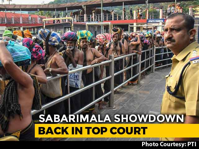 Video : Top Court To Consider Petitions For Changing Sabarimala Verdict Today