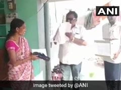 Telangana Candidate Hands Out Slippers, Wants People To Beat Him