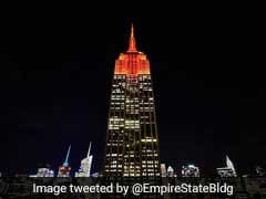 Empire State Building Lights Up In Orange To Celebrate Diwali