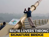 Video : People Risk Lives To Click Pictures At Delhi's Signature Bridge