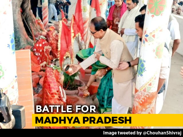Video : Temple Visits For Shivraj Singh Chouhan, Kamal Nath Ahead Of Voting