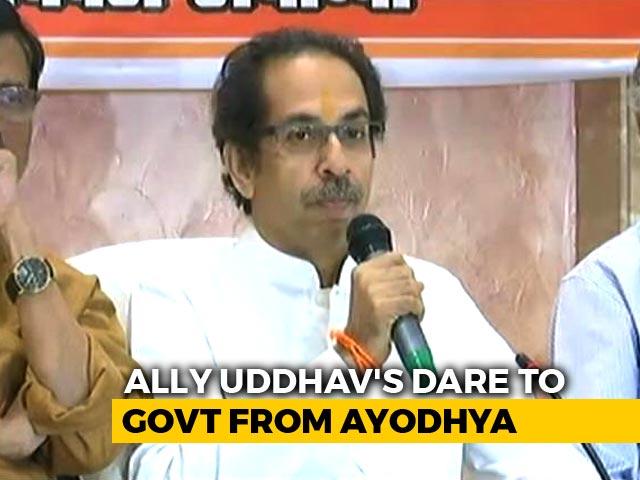 Video : On Ram Temple, Uddhav Thackeray's Pre-Poll Warning For BJP