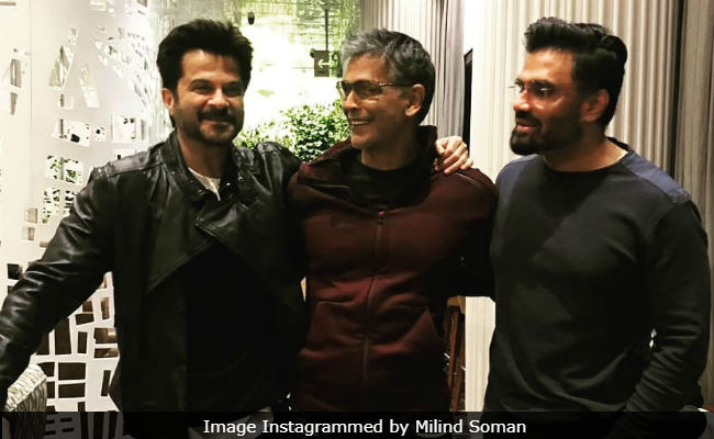 When 'Fitness Icons' Anil Kapoor, Milind Soman And Suneil Shetty Posed For A Pic