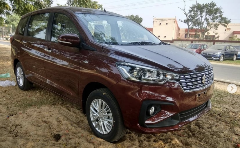 All New Maruti Suzuki Ertiga Spied Detailed Interior And