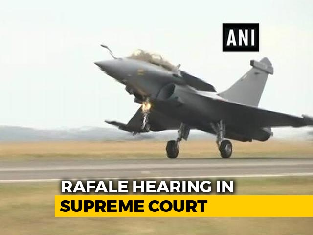 "Video : ""It's For Experts To Review Rafale Deal, Not Court,"" Says Centre"