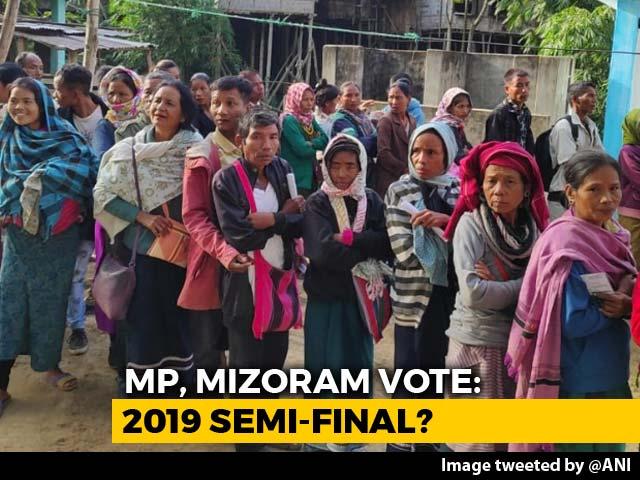 Video : Madhya Pradesh, Mizoram Vote After High-Decibel Campaigns