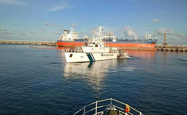 Most Of Oil Spilled At Ennore Recovered By Coast Guard Ships