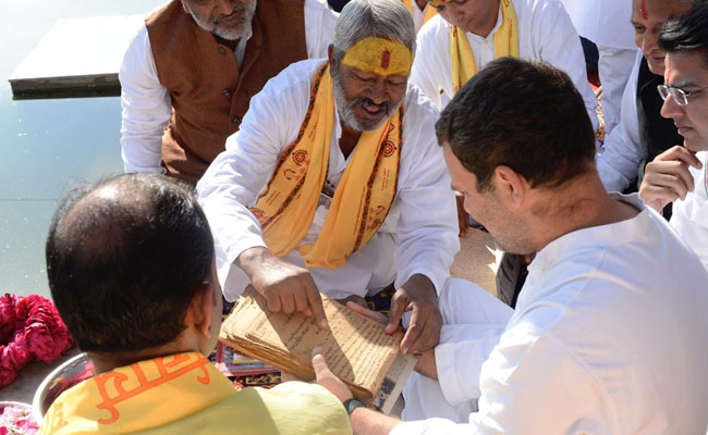 पुष्कर के पुजारी का दावा: कश्मीरी ब्राह्मण हैं राहुल गांधी, गोत्र है दत्तात्रेय