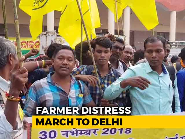 Video : Over A Lakh Protesting Farmers Take Out Kisan Mukti March In Delhi