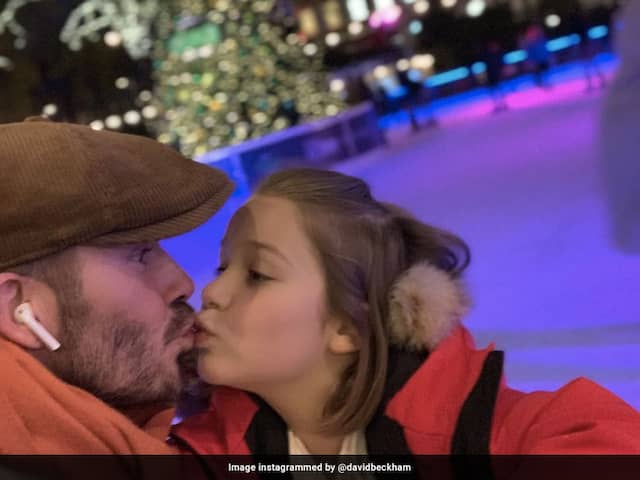 David Beckham had posted the adorable snap with his daughter and trolled