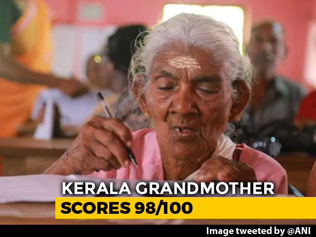 "Video : ""Knew I Would Score"": 96-Year-Old Kerala Grand Mom Tops Literacy Test"