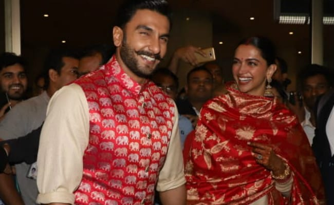 Newlyweds Deepika Padukone Ranveer Singh Touch Down In Mumbai After Italy Wedding See Pics