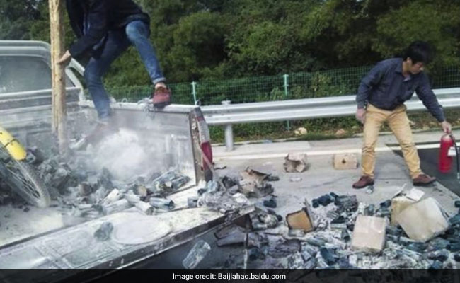Driver Throws Out Cigarette Butt, Sets His Own Truck On Fire