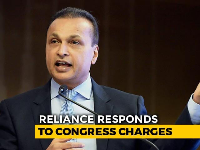 "Video : Reliance Group Calls Congress Charges Against It On Rafale ""Blatant Lies"""