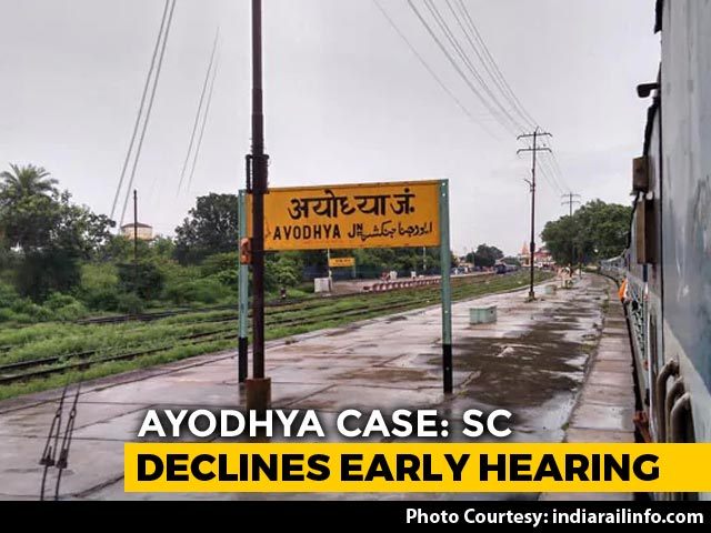 "Video : ""Permission Declined"": Supreme Court Refuses Urgent Ayodhya Hearing"