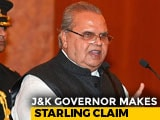 "Video : ""Had I Listened To Centre..."": Jammu & Kashmir Governor's Startling Claim"
