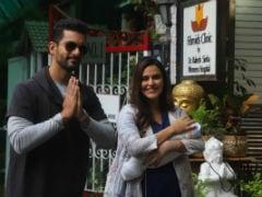 Neha Dhupia And Angad Bedi Take Their Newborn Daughter Mehr Home. See Pics