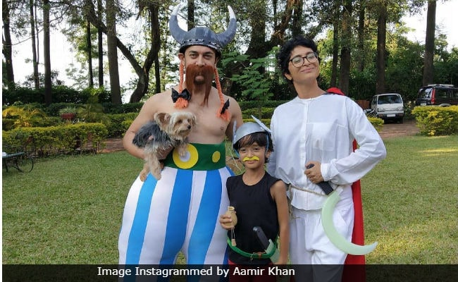 This Pic Of Aamir Khan, Kiran Rao And Azad, Dressed As Asterix Characters Is The Cutest Thing On The Internet Today