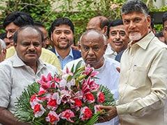 """""""Repeat Of 1996 In 2019"""": HD Kumaraswamy After Meeting Chandrababu Naidu"""