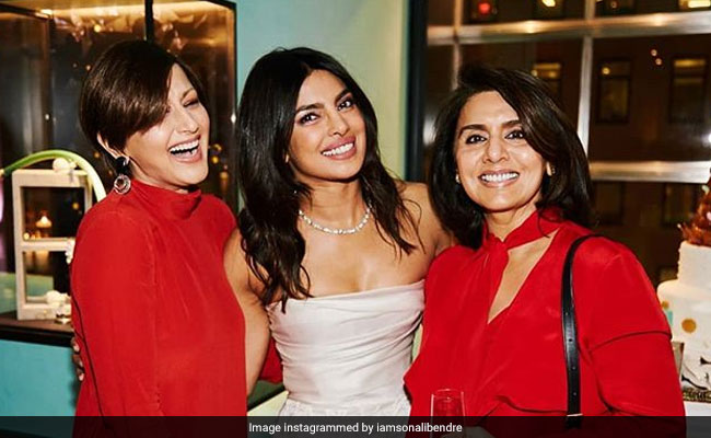 8a0b412e22 Sonali Bendre's Thoughts On Wearing Red To Priyanka Chopra's Bridal Shower:  'Felt So Great And Strange'