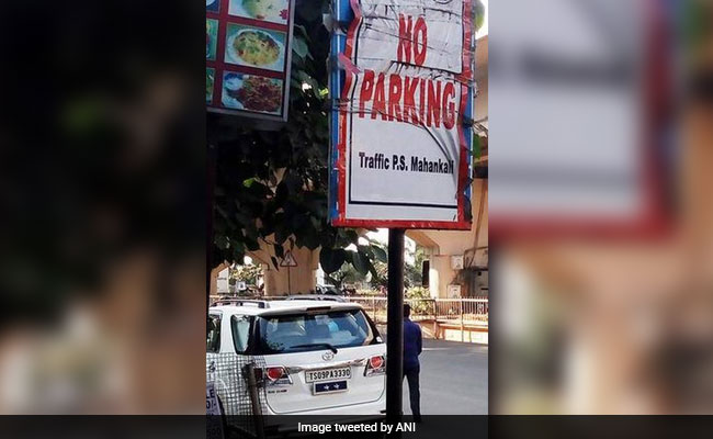 Hyderabad Traffic Top Cop Violates Traffic Rules, Claims To Fine Himself
