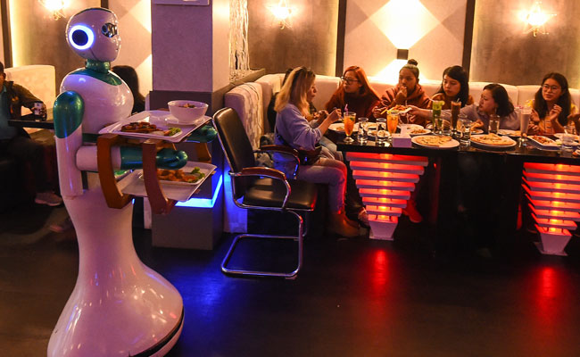At This Nepali Restaurant, The Biggest Attraction Is The Robot Waiters