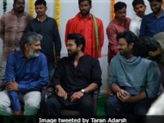 <I>RRR</i>: Prabhas, Rana Daggubati And Others Attend S Rajamouli's Film Launch