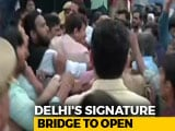 Video : Was Pushed, Says BJP's Manoj Tiwari, Seen Punching Cops At Bridge Opening