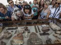 Cat Mummies, Animal Statues Discovered In Stone Tombs In Egypt