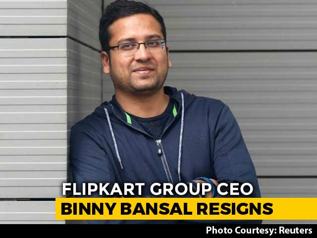 "Video : Flipkart's Binny Bansal Quits As CEO After ""Personal Misconduct"" Probe"