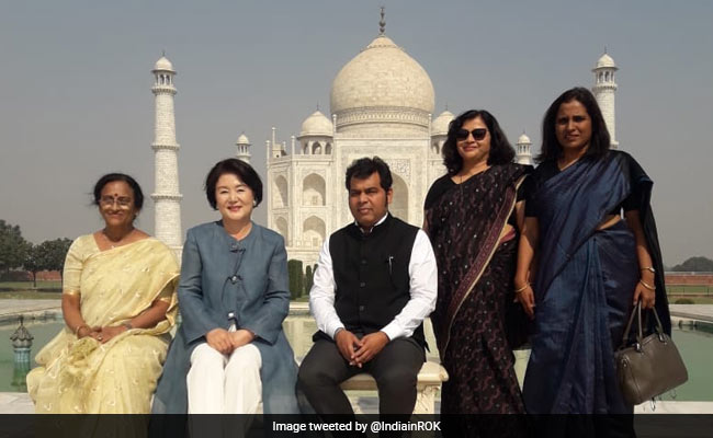 South Korea First Lady Praises Taj Mahal's Beauty, Architechture On Visit