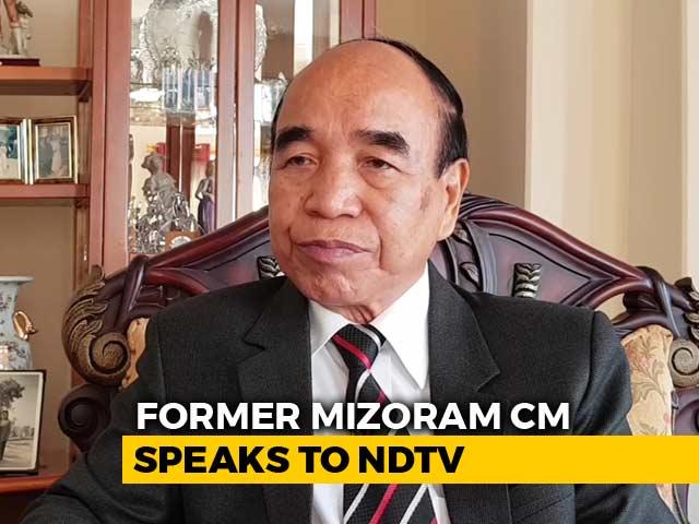 "Video : ""Won't Align With BJP In Mizoram"": Mizo National Front Chief Zoramthanga"