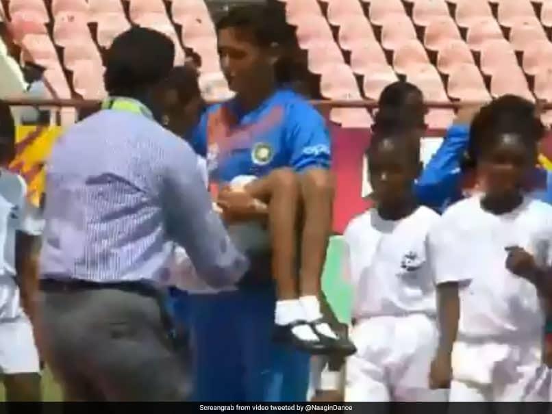 Harmanpreet Kaur Carries Unwell Mascot Off The Ground During ICC Womens World T20